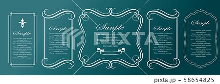 装飾デザイン 美しい額 フレームデザイン テンプレート アンティーク ビンテージ ラグジュアリー 58654825