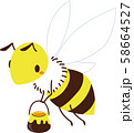 ミツバチ 58664527