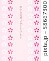 寒中見舞い-梅縦ライン-ピンク 58667300