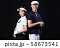 ゴルフ ゴルファー 男女 58673541