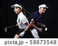 ゴルフ ゴルファー 男女 58673548