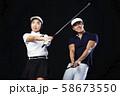 ゴルフ ゴルファー 男女 58673550