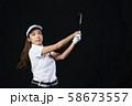 ゴルフ ゴルファー 女性 58673557