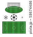 サッカー 58674486
