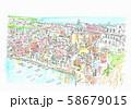 ヨーロッパの街並み・イタリア・プロチーダ島 58679015