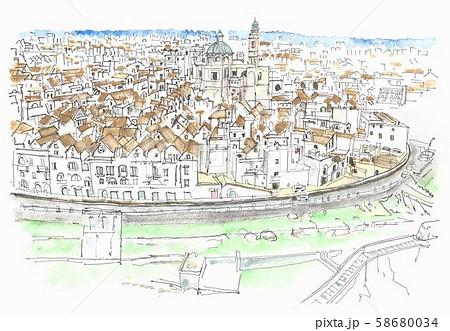 ヨーロッパの街並み・イタリア・円形都市・ロコロトンド 58680034