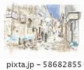 ヨーロッパの街並み・イタリア・オルデイージャ島の路地 58682855