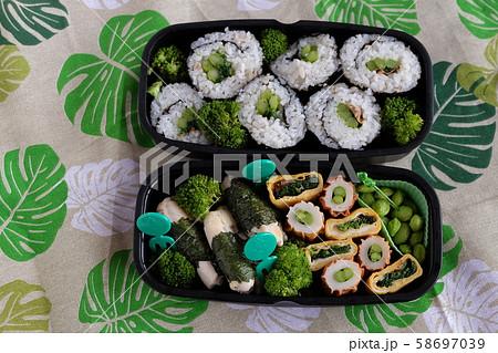 緑組用のお弁当 58697039