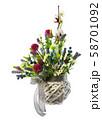 Flower arrangement of flowers. 58701092