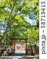 三の鳥居 大原野神社 参道 58719415