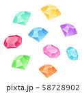 丸く散らばった宝石イラスト_シンプル 58728902