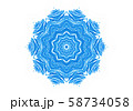 Abstract blue shape like a snowflake on a white 58734058