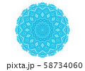 Abstract turquoise round pattern 58734060