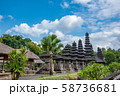 バリ島 世界遺産 タマンアユン寺院の門 メル 石の塔 58736681