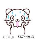 白猫【驚く】 58744913