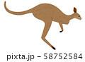 カンガルーが飛び跳ねているイラスト 58752584