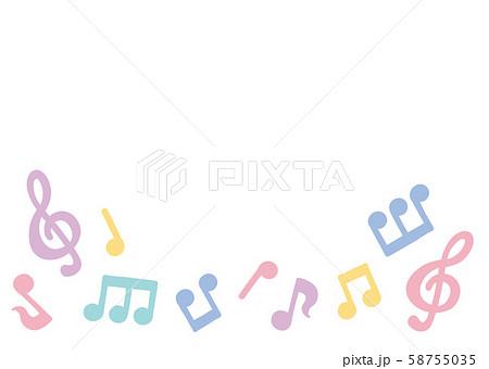 パステル音符フレーム 58755035