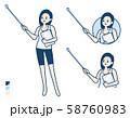 simple tank top woman_pointing-stick-A 58760983