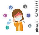 女性 風邪 せき 咳 ウィルス 58761463