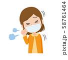 女性 風邪 せき 咳 ウィルス 58761464