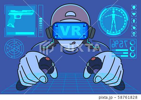 VRゲームに熱中するオタク 58761828