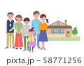 3世代家族と家 58771256