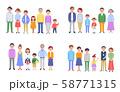 3世代家族 4組セット  58771315