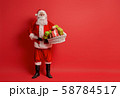 Santa Claus on color background. 58784517