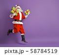 Santa Claus on color background. 58784519
