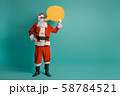 Santa Claus on color background. 58784521