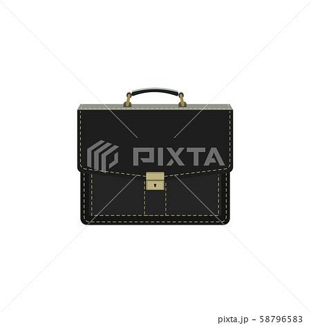 Color vector image. Portfolio, black briefcase illustration 58796583