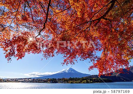 富士山 紅葉 58797169