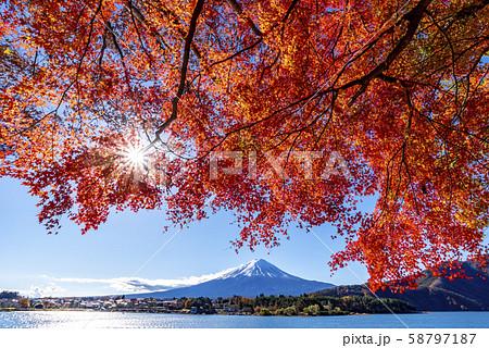 富士山 紅葉 58797187