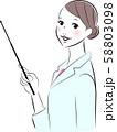 白衣の女性 58803098