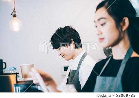 カフェ スタッフ アルバイト 58809735