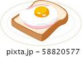 目玉焼きトースト 58820577