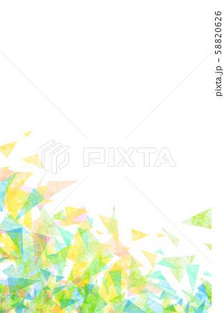 和紙風 三角形 テクスチャー 58820626