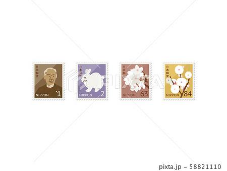 日本の切手(増税10%バージョン) 58821110