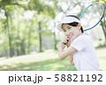 女性 テニス 58821192