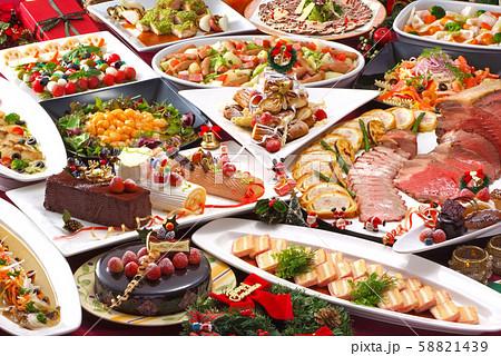 クリスマス ブッフェ クリスマスパーティー クリスマスブッフェ パーティーブッフェ 楽しいクリスマス 58821439