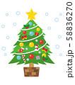 クリスマスツリー 58836270