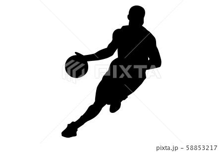 スポーツシルエットバスケットボール3 58853217