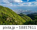 六甲山系 荒地山から見る芦屋市街地 58857611
