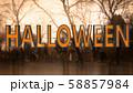 Halloween Creepy 3D Illustration with Text 58857984