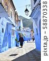 モロッコ 青い町 シャウエン 58870338