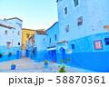 モロッコ 青い町 シャウエン 58870361