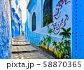 モロッコ 青い町 シャウエン 58870365