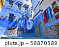 モロッコ 青い町 シャウエン 58870389