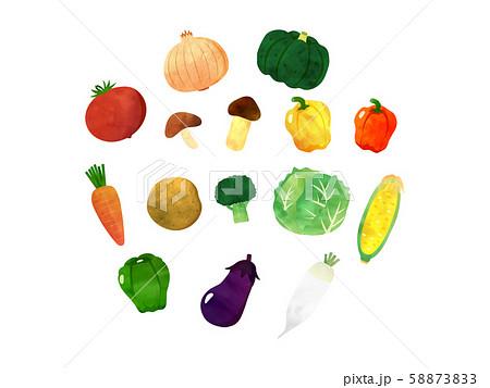 水彩野菜セット 58873833