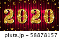 Golden Celebration Background for Happy New Year 2020 58878157
